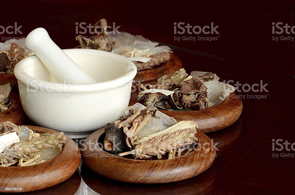 Chinese Dried Herbal Medicine. stock photo