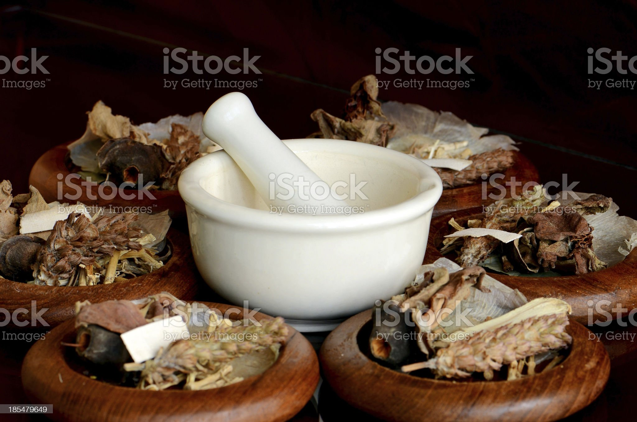 Chinese Dried Herbal Medicine. royalty-free stock photo