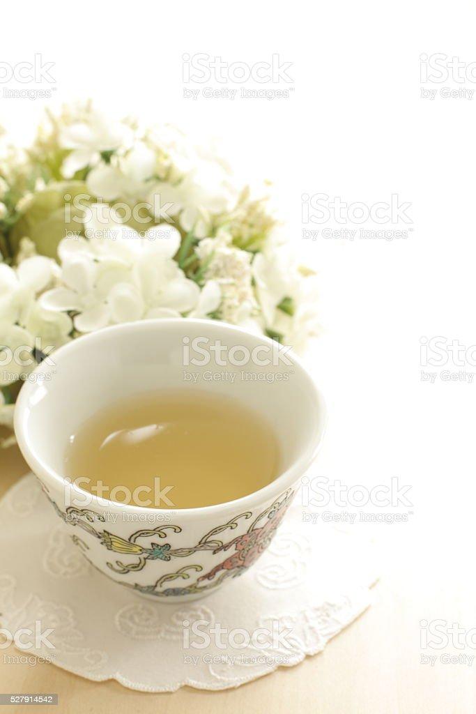 Chinese drink, jasmine tea stock photo