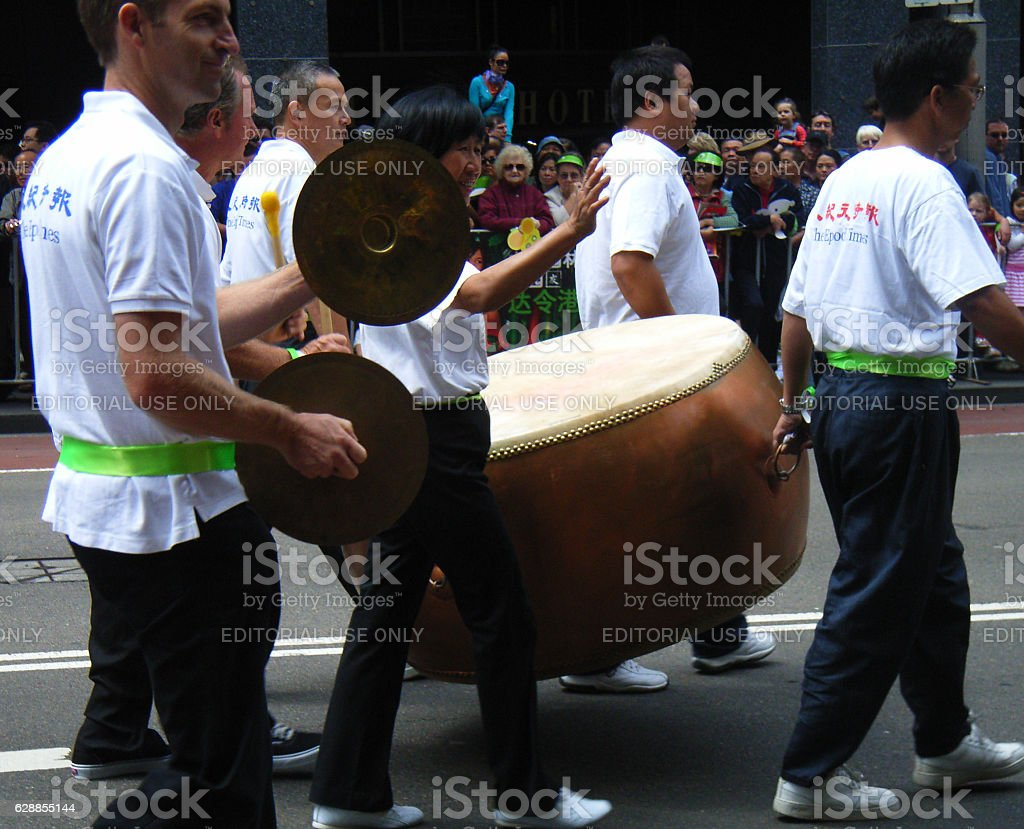 Chinese drum in  a New Year Parade stock photo