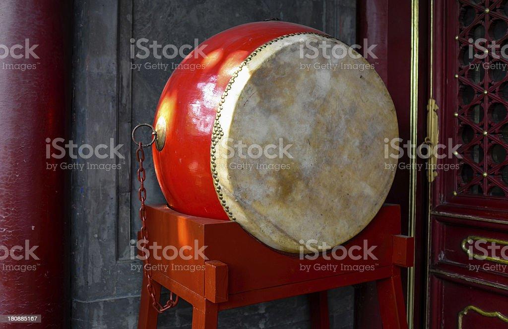 Chinese drum stock photo