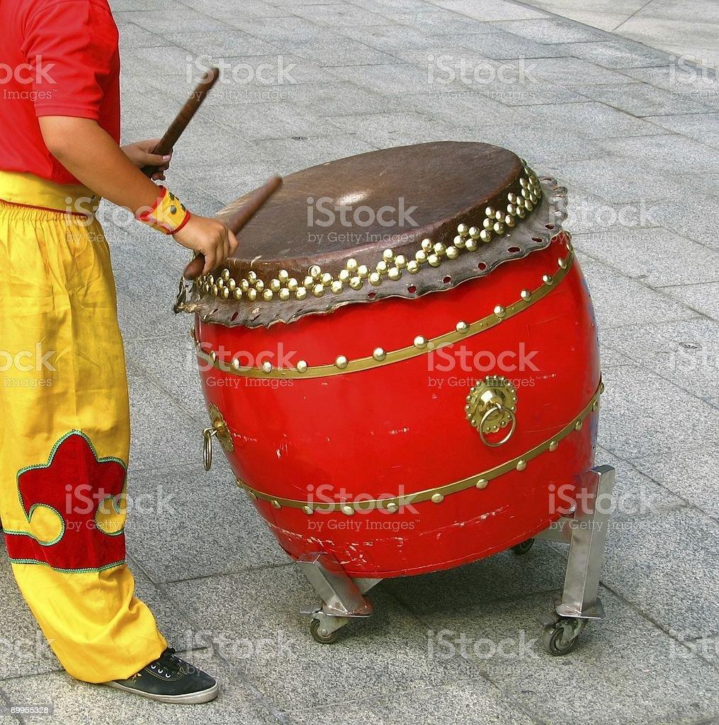 Chinese Drummer stock photo