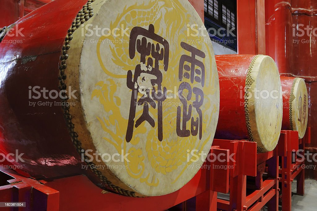 Chinese Drums - Large stock photo