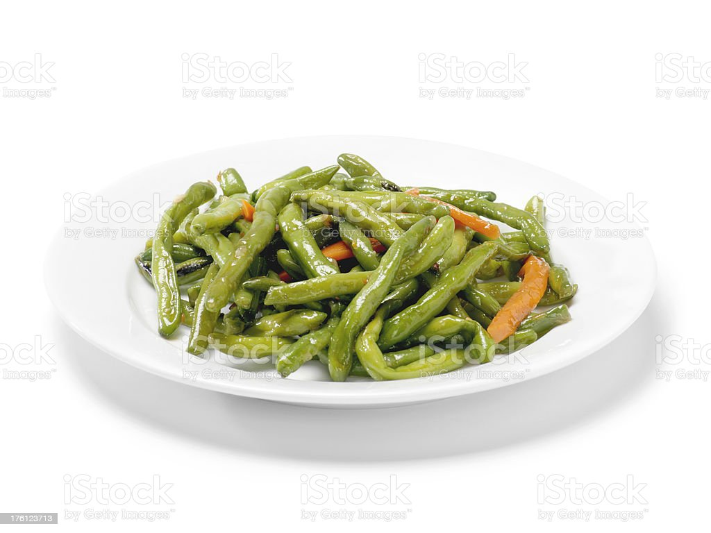 Chinese Dry Roasted Green Beans royalty-free stock photo