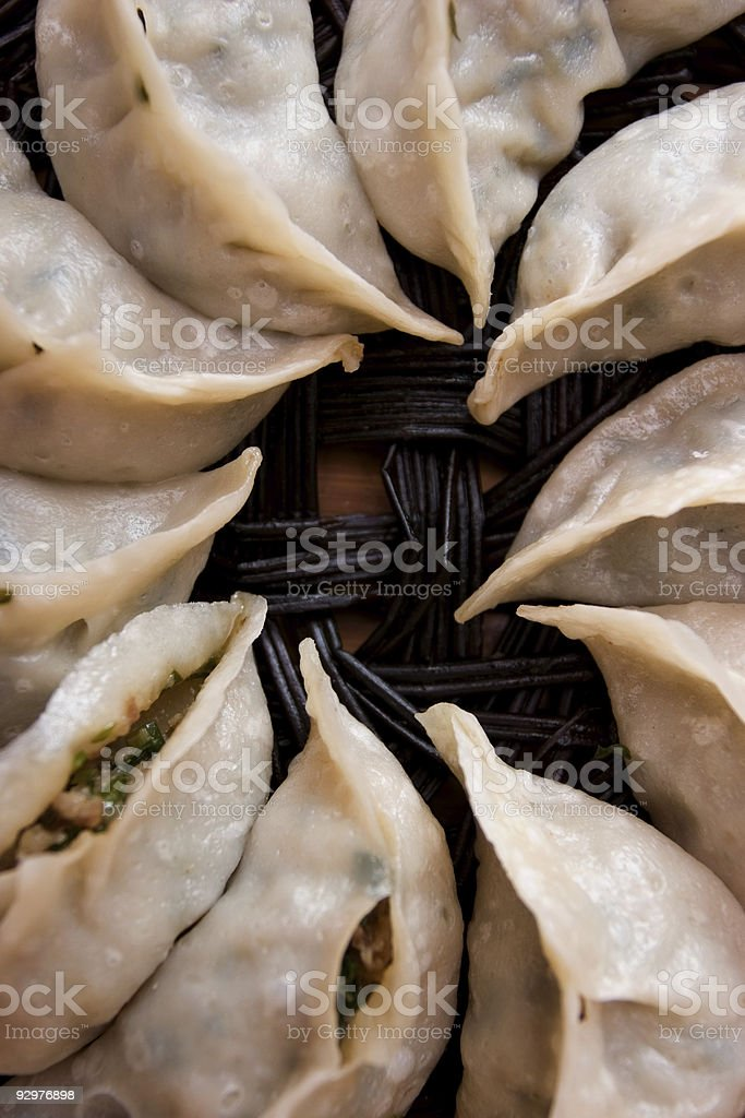 Chinese dumplings - Jiaozi 5 royalty-free stock photo