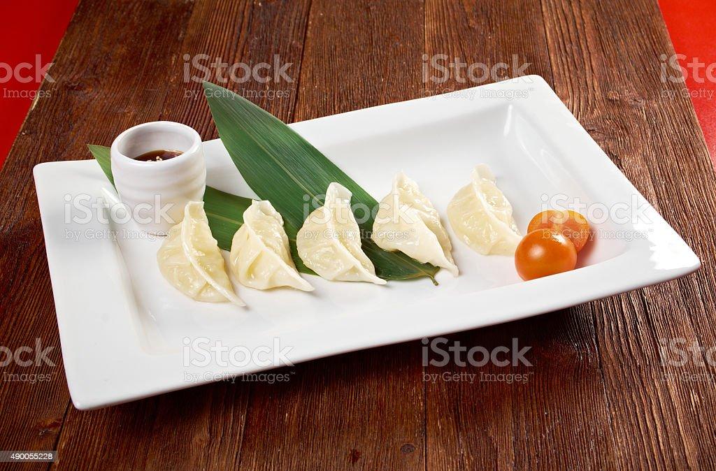 Chinese dumplings Jiaozi stock photo
