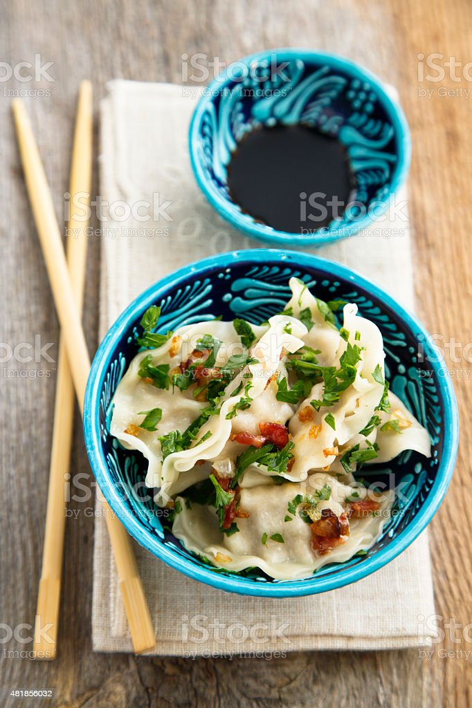 Chinese dumplings stock photo