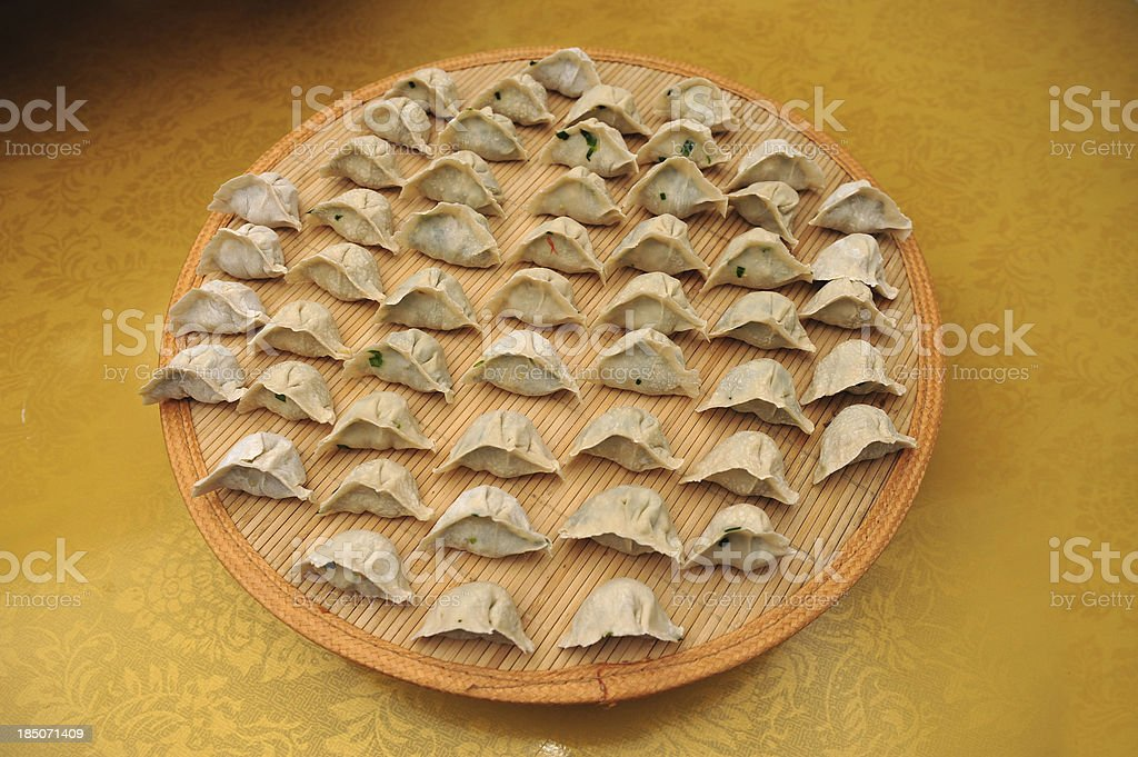 Chinese Dumpling-Traditional Food From China Town stock photo