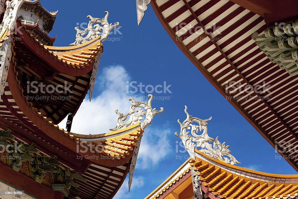 Chinese eaves of temple royalty-free stock photo