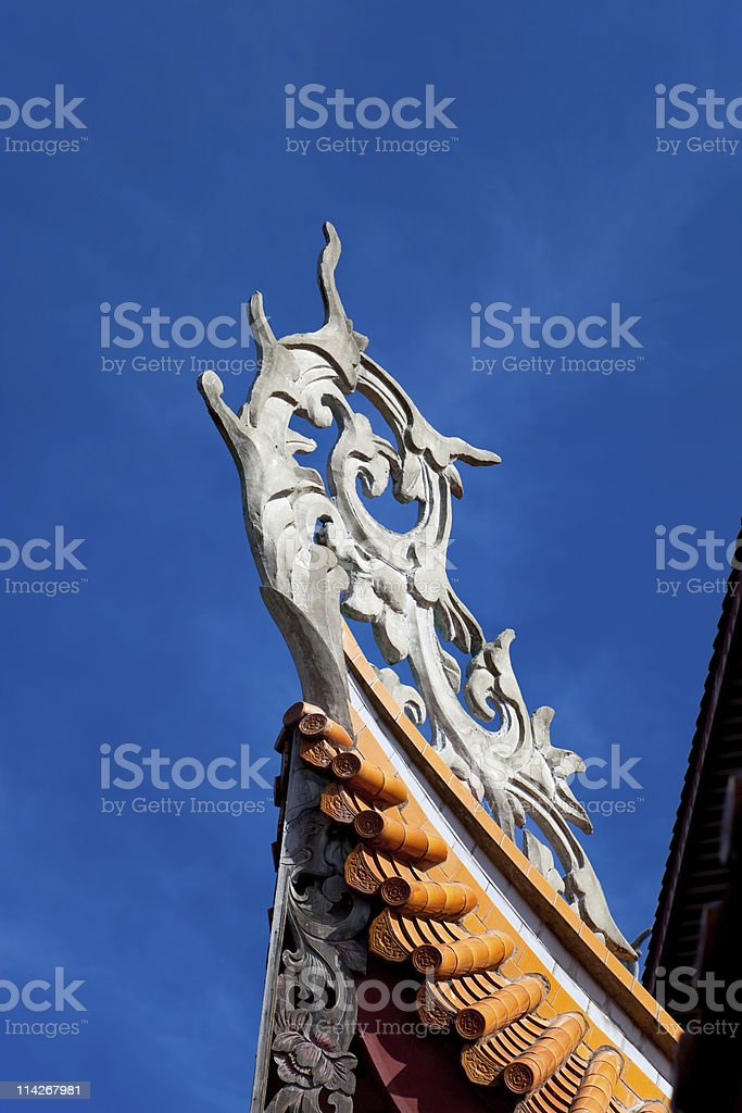 Chinese eaves under blue sky royalty-free stock photo