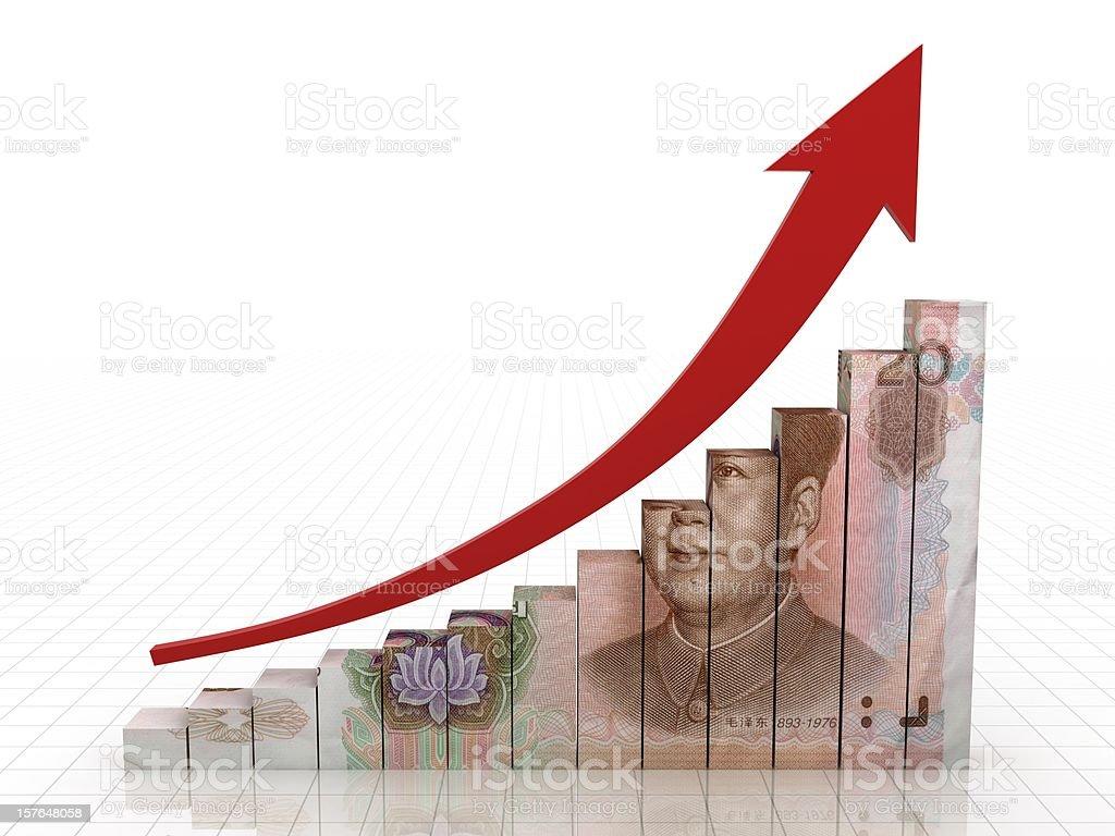 Chinese Economics Growth royalty-free stock photo
