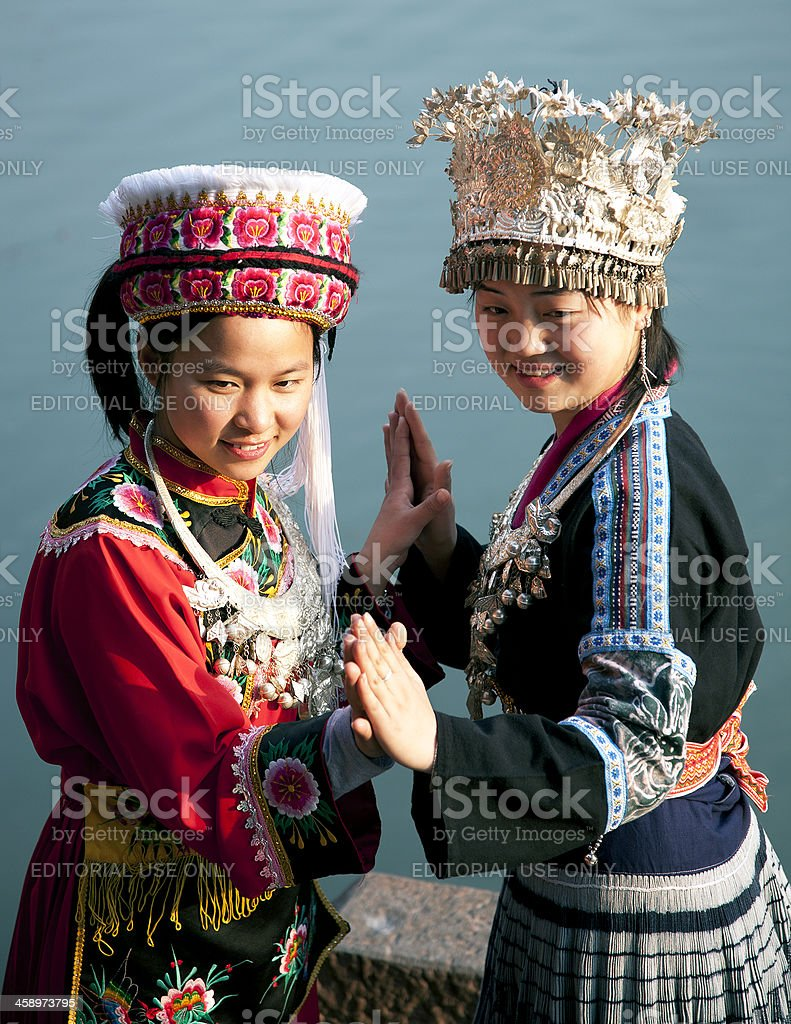 Chinese Ethnicity posing for friendship photo royalty-free stock photo