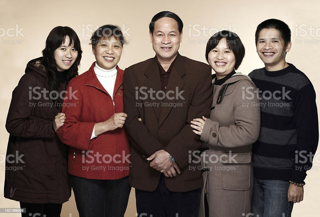 Chinese family royalty-free stock photo