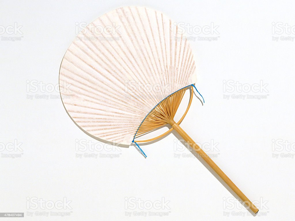 Chinese fan isolated stock photo