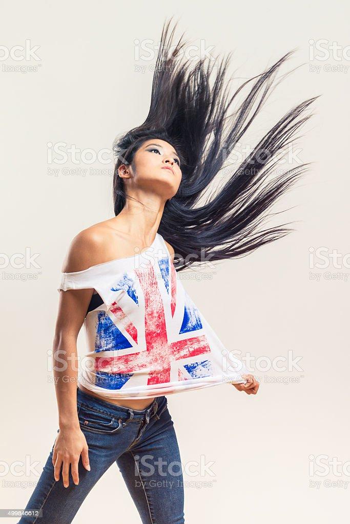 Chinese Fashion Model Woman stock photo