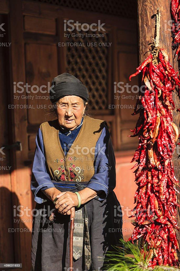 Chinese female senior citizen royalty-free stock photo