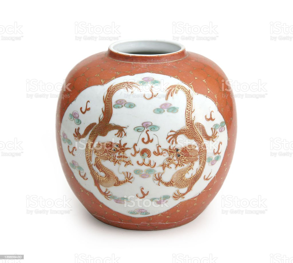 Chinese fine ceramic vase stock photo