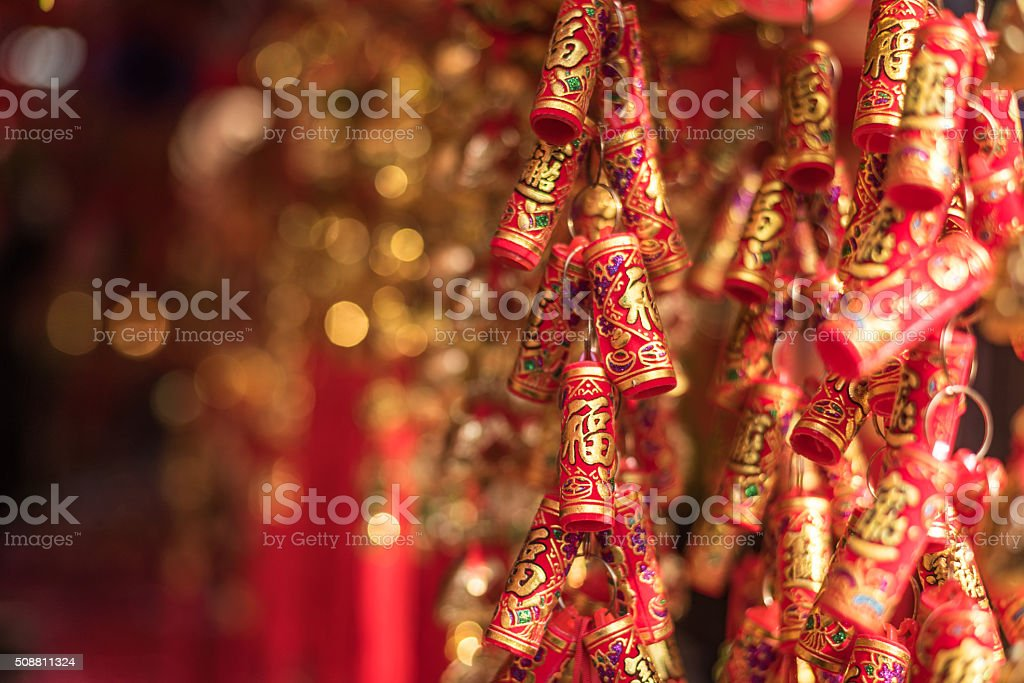 Chinese Fire crackers stock photo