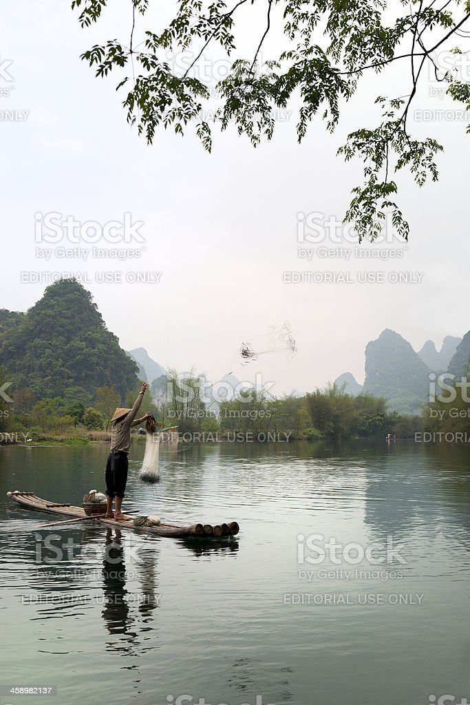 Chinese Fisherman stock photo