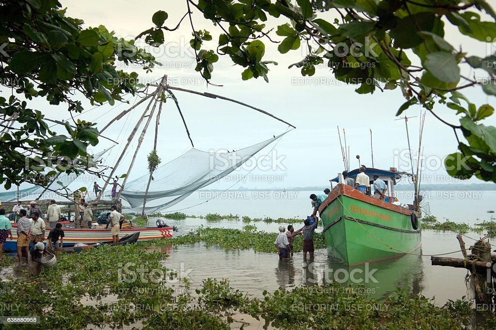 Chinese Fishing Nets - Kochi - Tamil Nadu - India stock photo