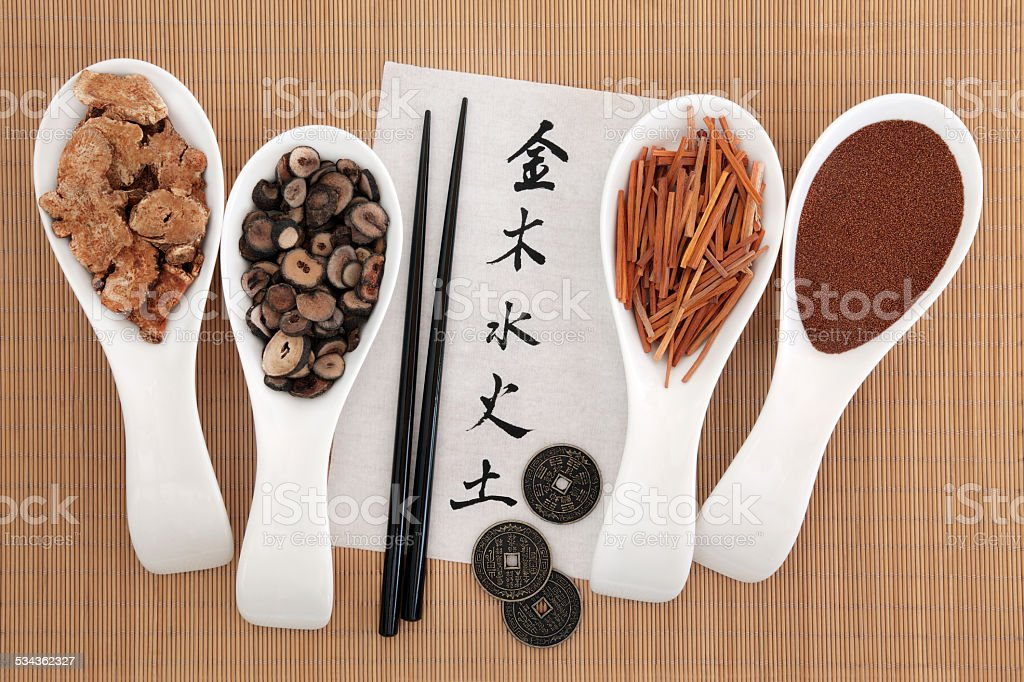 Chinese Five Elements stock photo