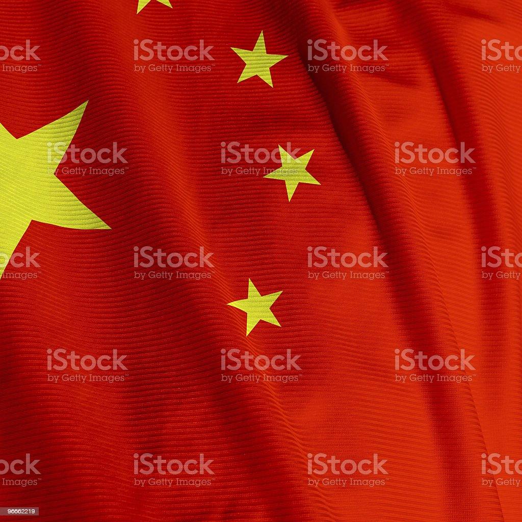 Chinese Flag Closeup royalty-free stock photo