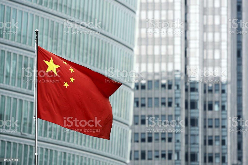 Chinesische Flagge Lizenzfreies stock-foto