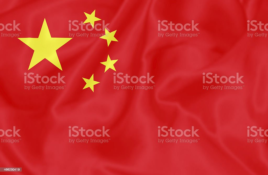 Chinese flag. royalty-free stock photo