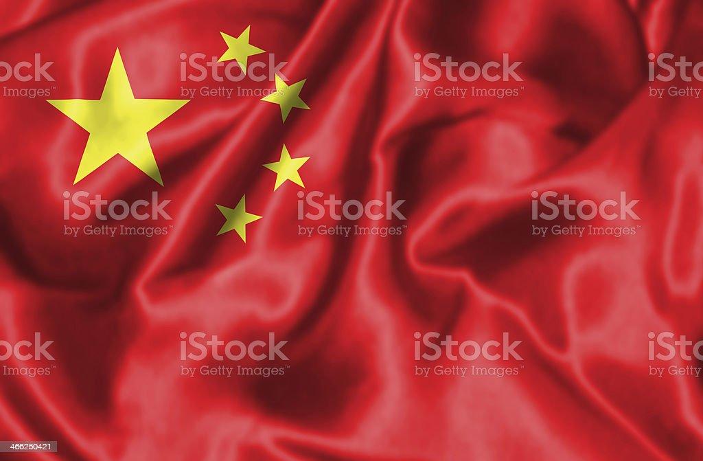 Chinese flag. royalty-free stock photo