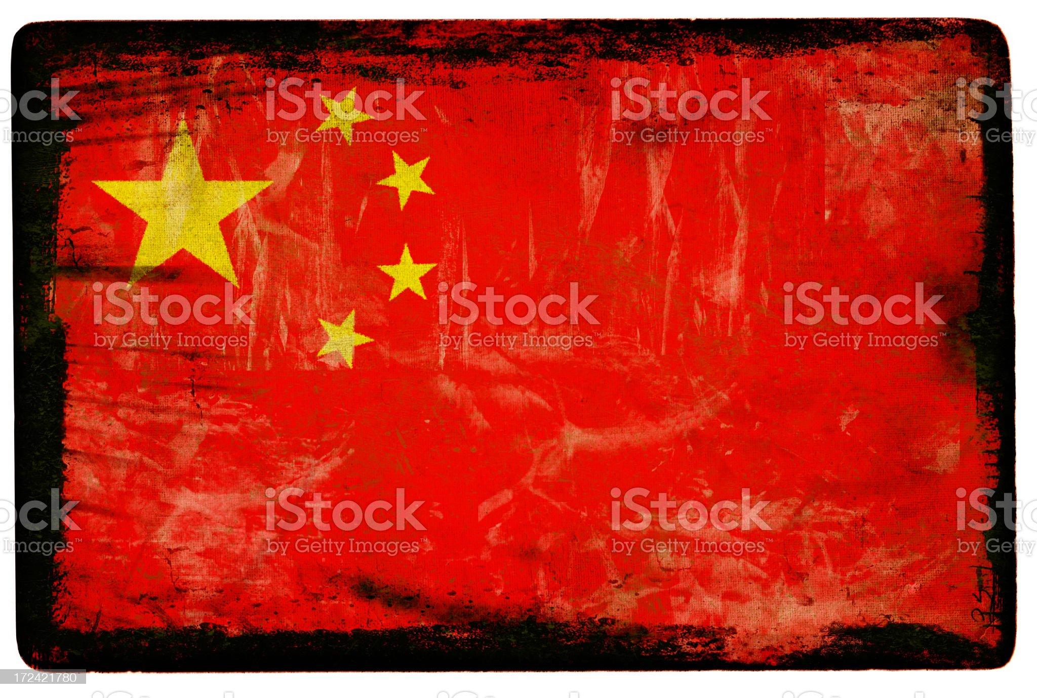 Chinese Flag XXL royalty-free stock photo
