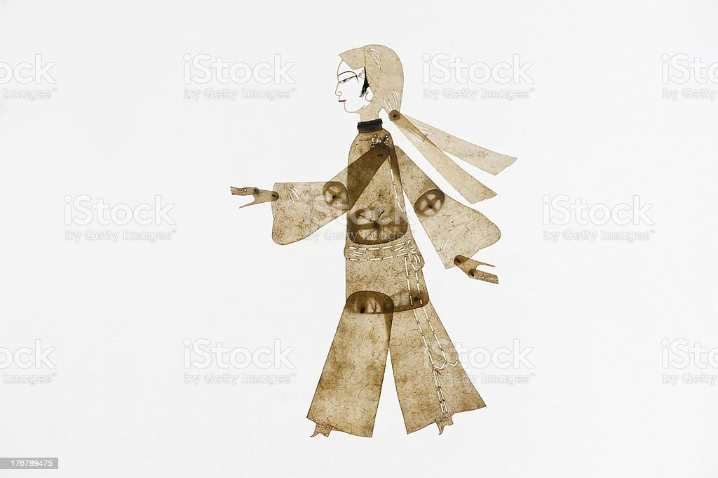 Chinese folk theater art, shadow royalty-free stock photo
