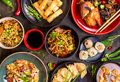 Chinese food blank background