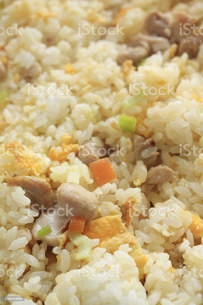 chinese food, chicken and egg fried rice royalty-free stock photo