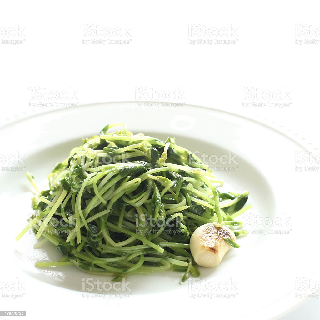 chinese food, doumiao stir fried royalty-free stock photo