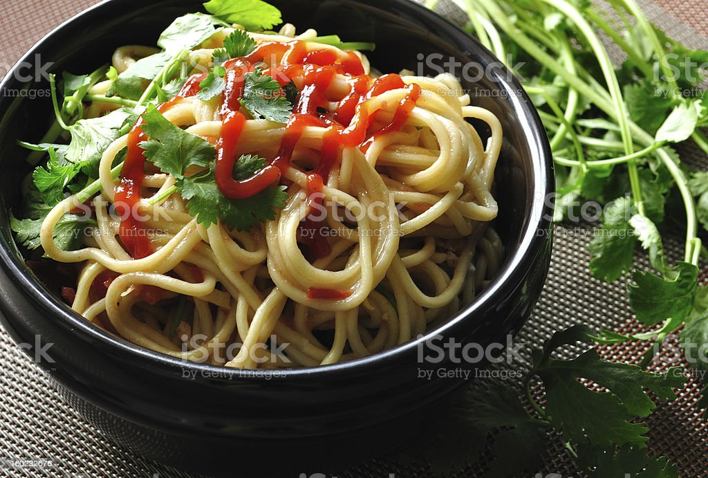 chinese food: lo mein stock photo