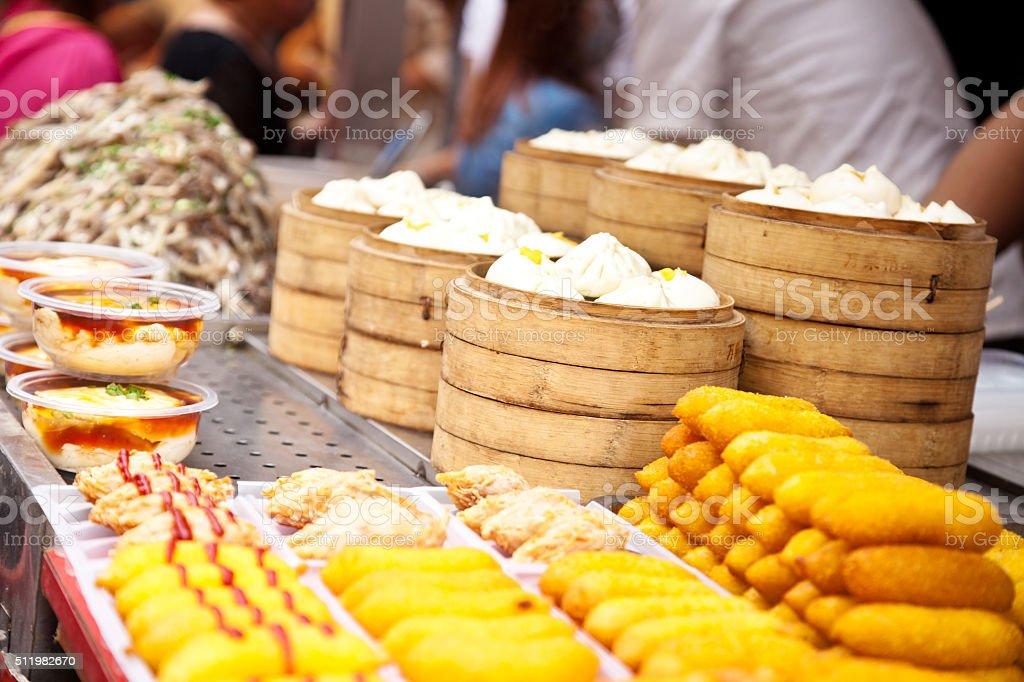 chinese food market stock photo