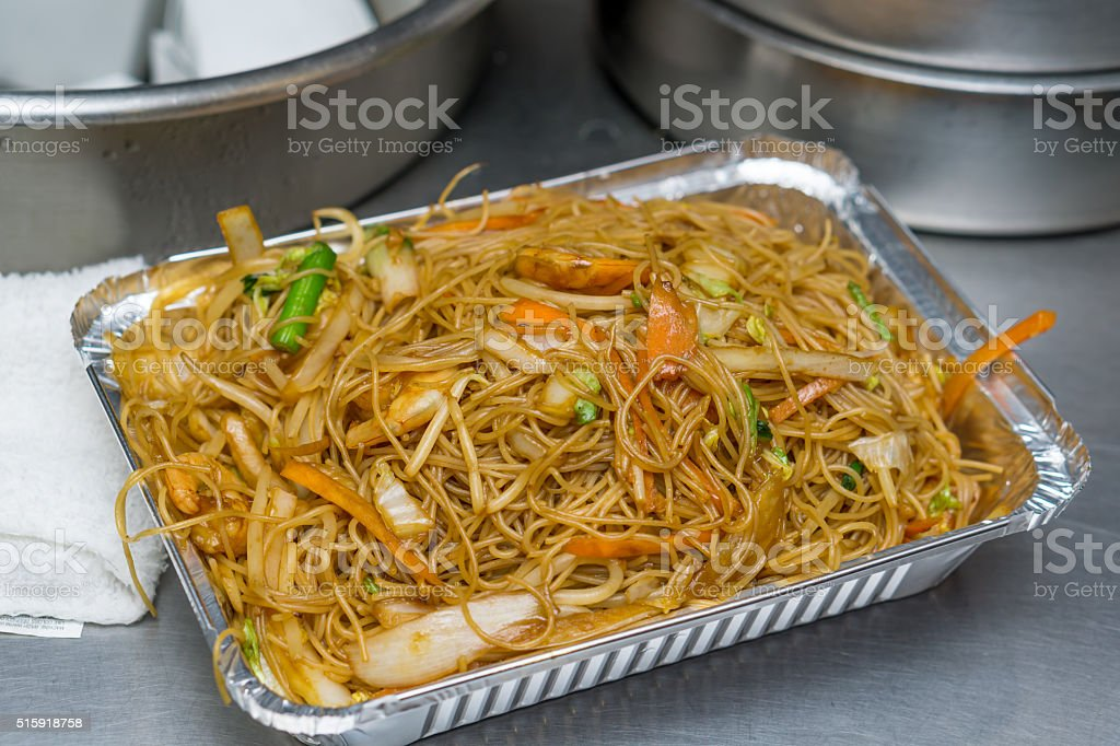 chinese food rice noodle stock photo