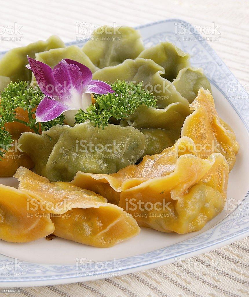 Chinese food series:chinese dumplings royalty-free stock photo