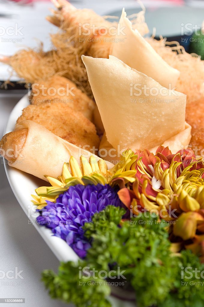 chinese food, spring roll royalty-free stock photo