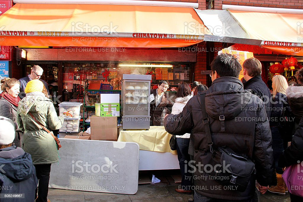 Cucina cinese a Londra fornitore foto stock royalty-free