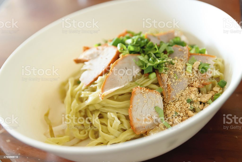 Chinese food, Wonton and noodle for traditonal gourmet dumpling royalty-free stock photo