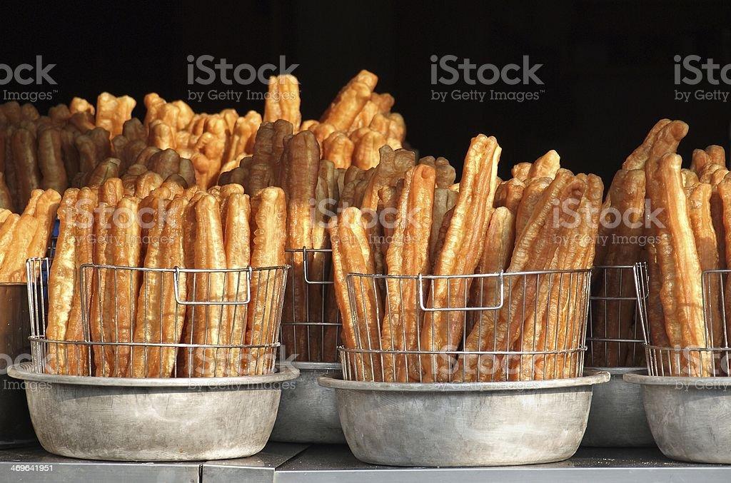 Chinese Fried Dough Sticks stock photo