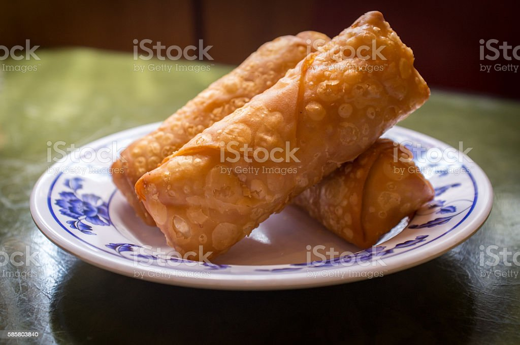 Chinese Fried Egg Rolls stock photo