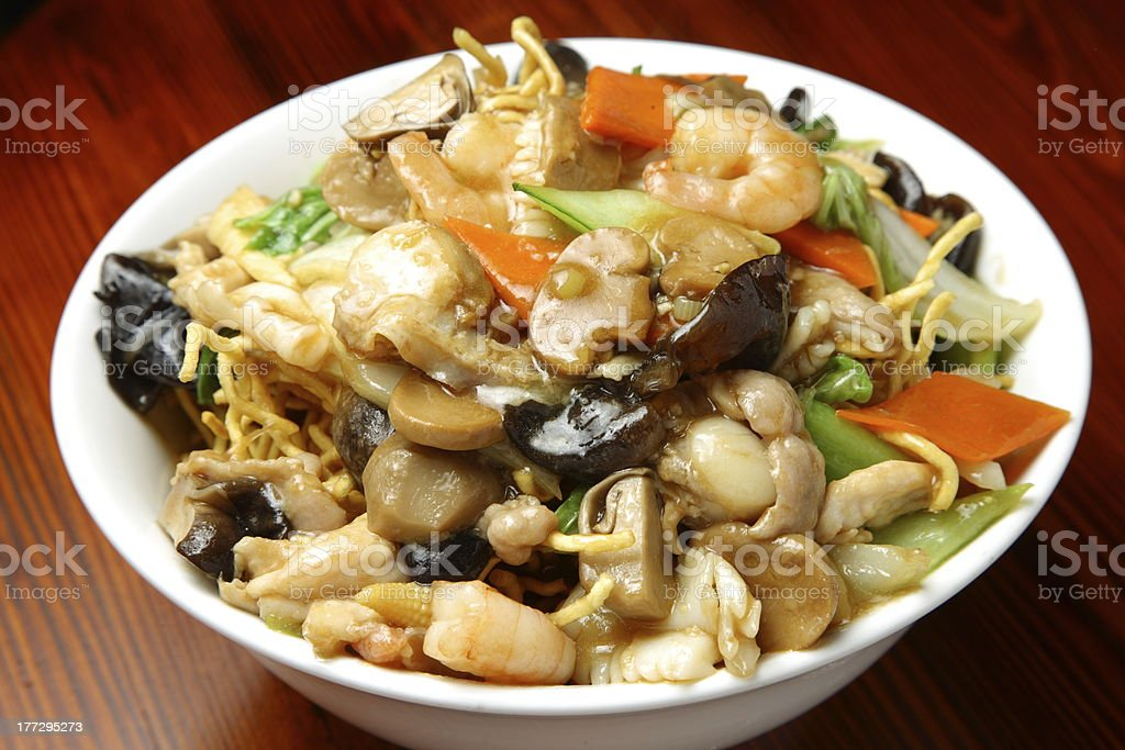 Chinese Fried Noodle stock photo