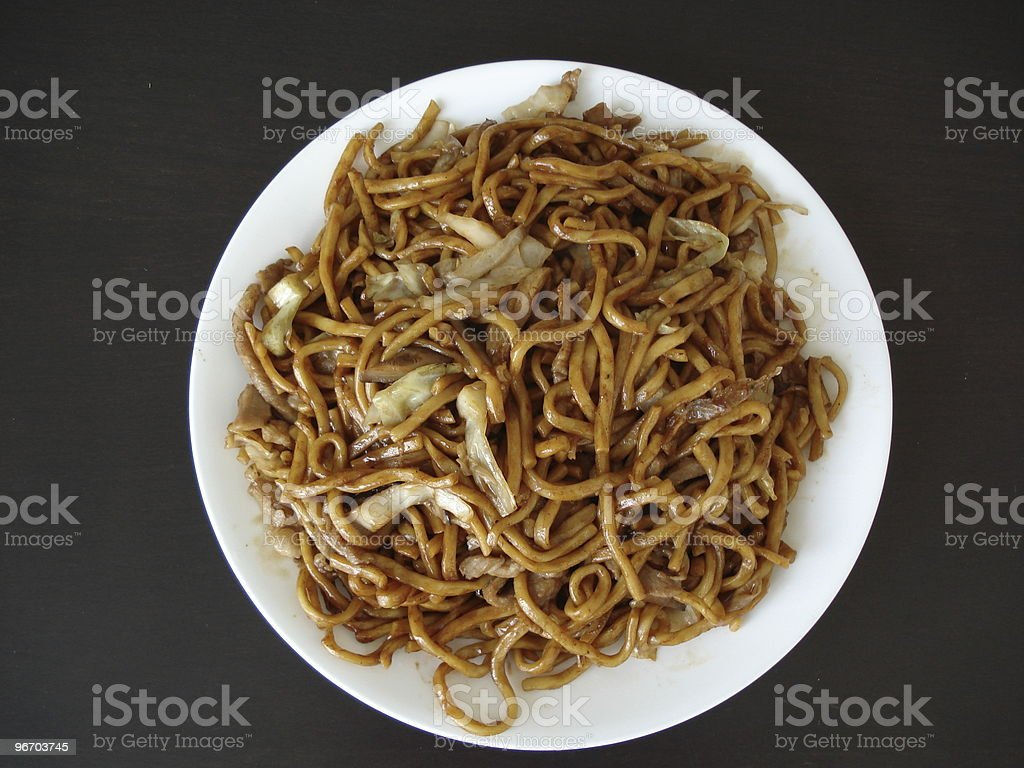 Chinese fried noodle royalty-free stock photo