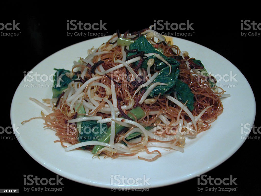 Chinese fried noodles royalty-free stock photo