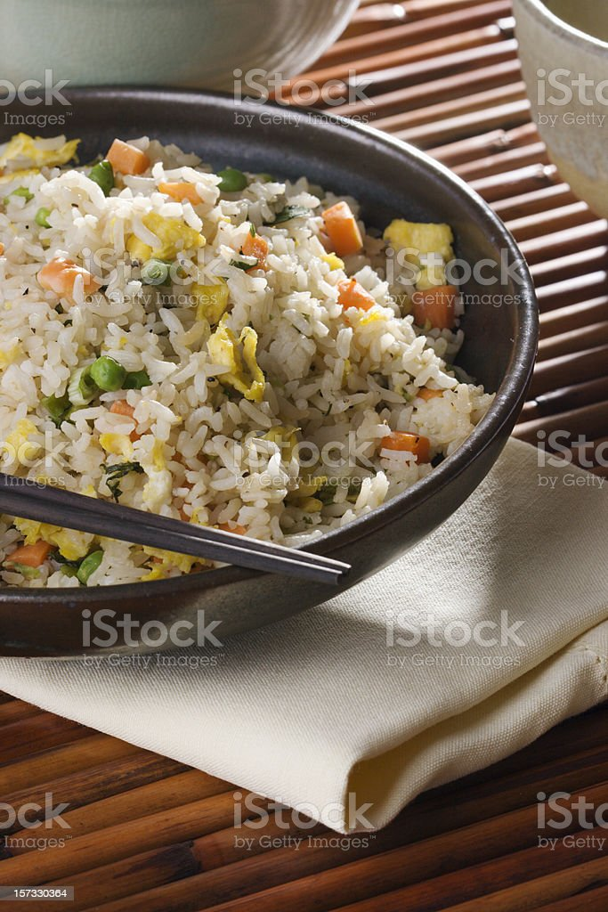 Chinese Fried Rice in Bowl Vt royalty-free stock photo