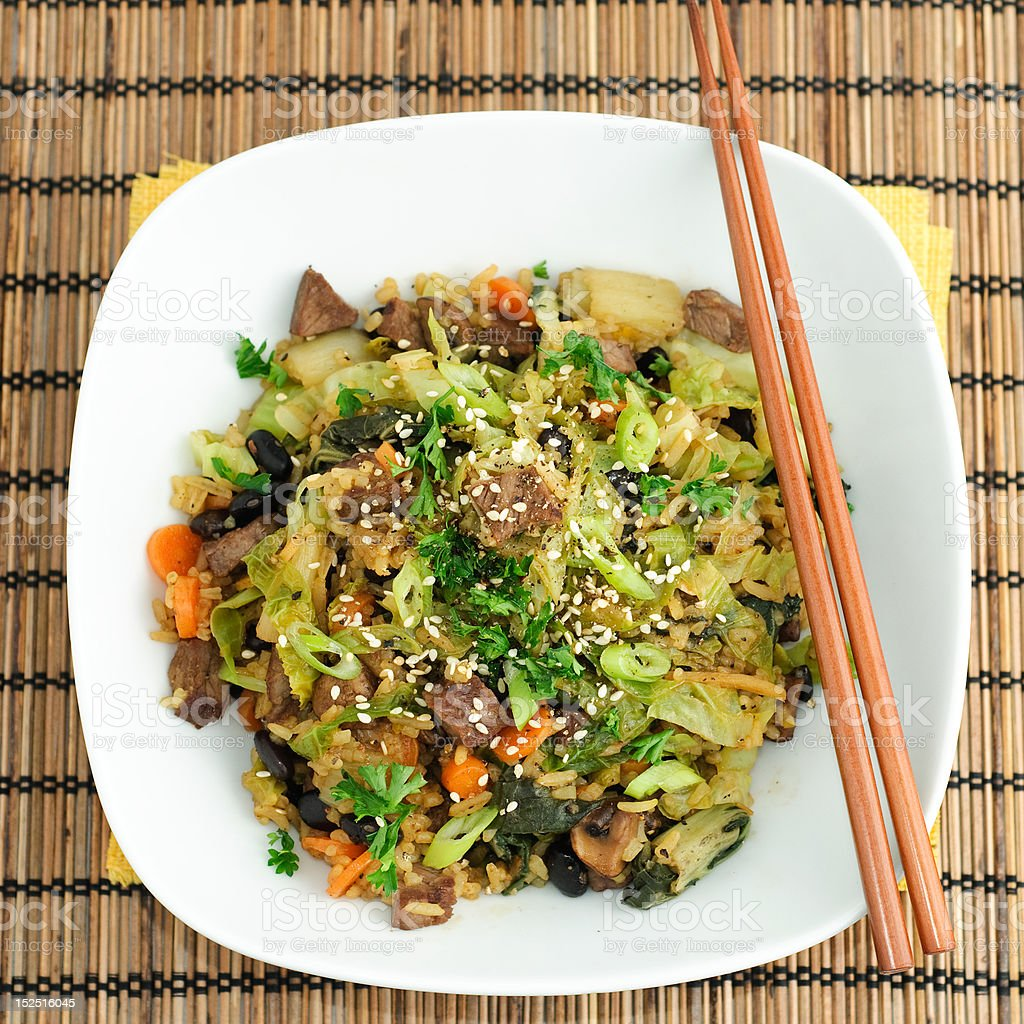 Chinese fried rice royalty-free stock photo