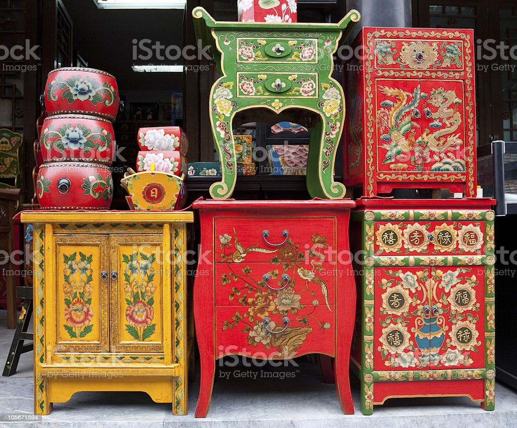 Marvelous A Chinese Furniture Market Shop Royalty Free Stock Photo