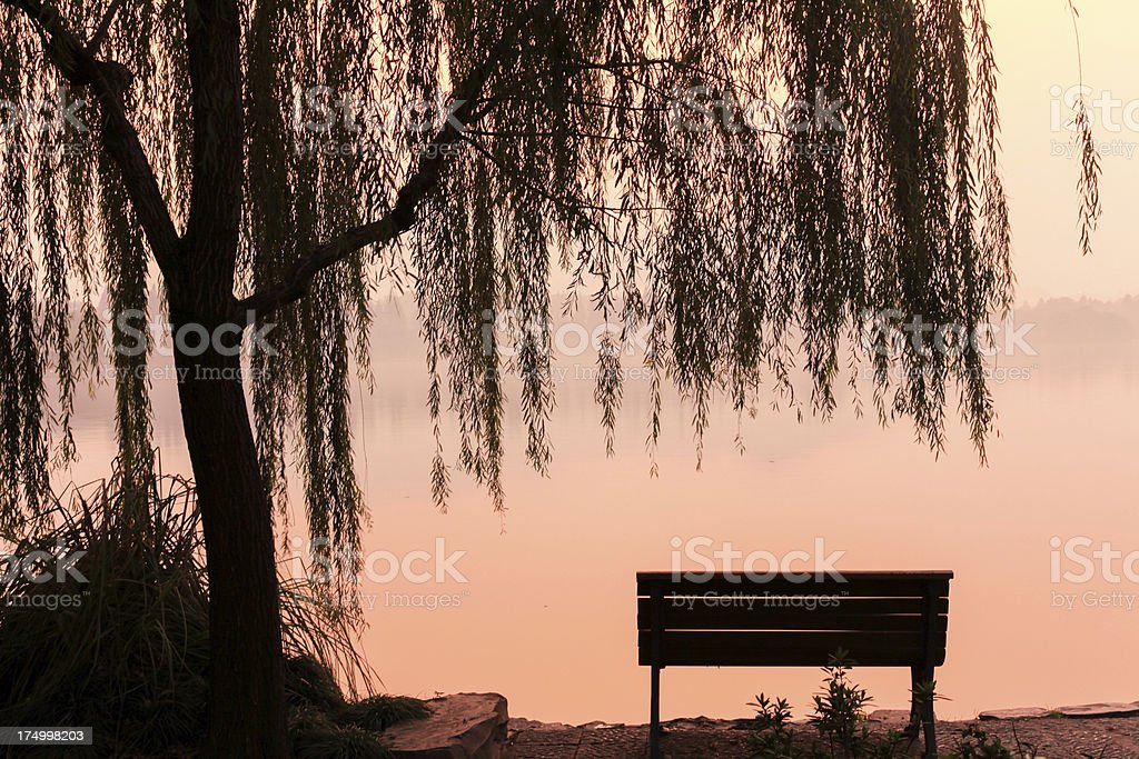 Chinese Garden at sunset royalty-free stock photo